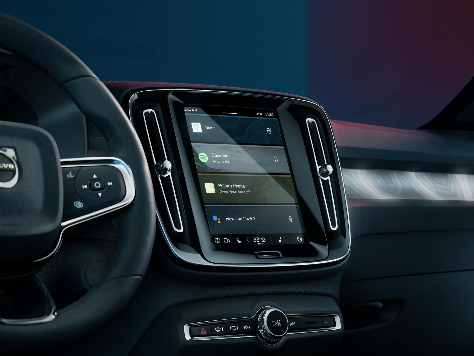 Volvo C40 infotainment systeem
