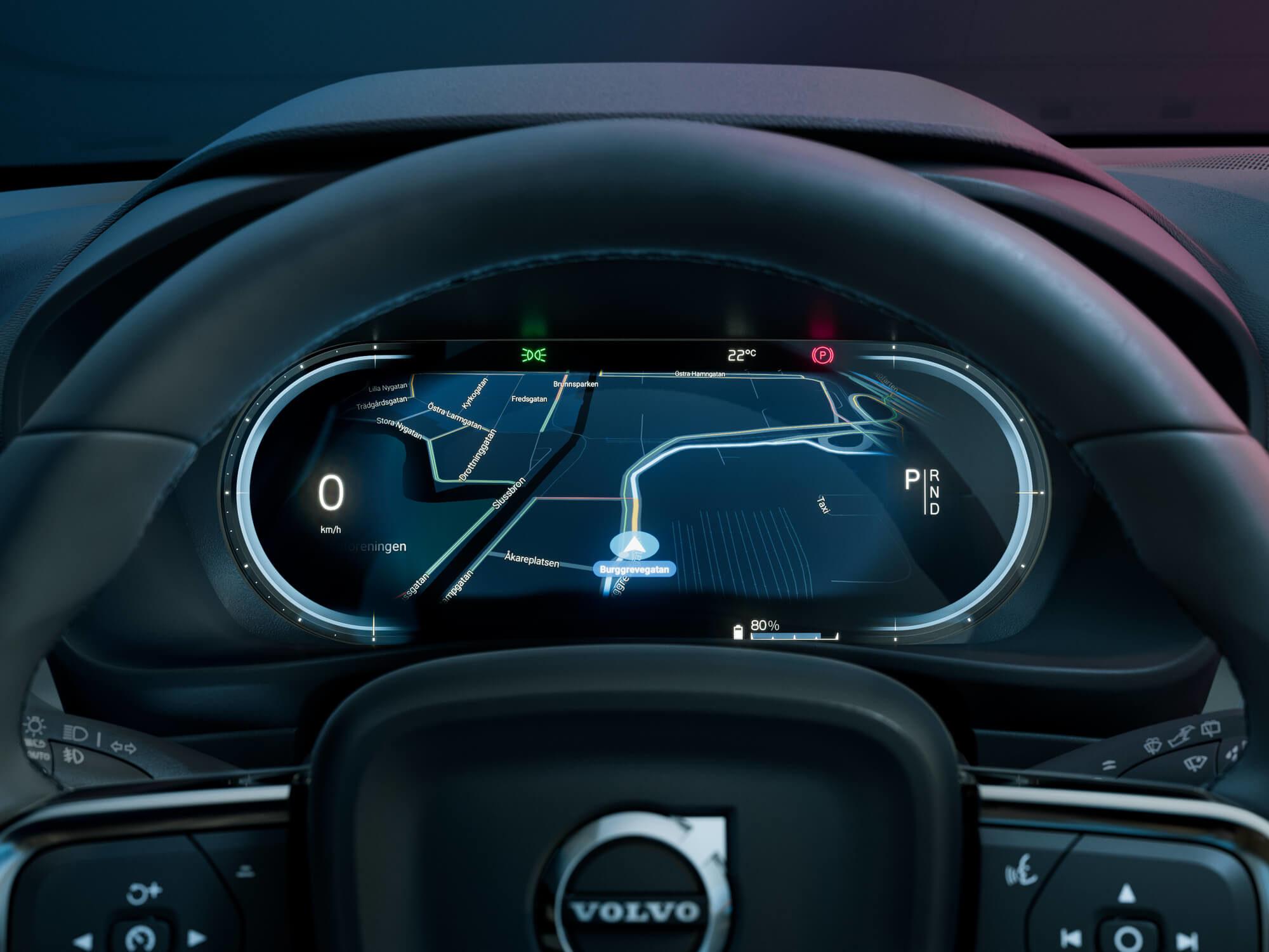 Volvo C40 bestuurder dashboard