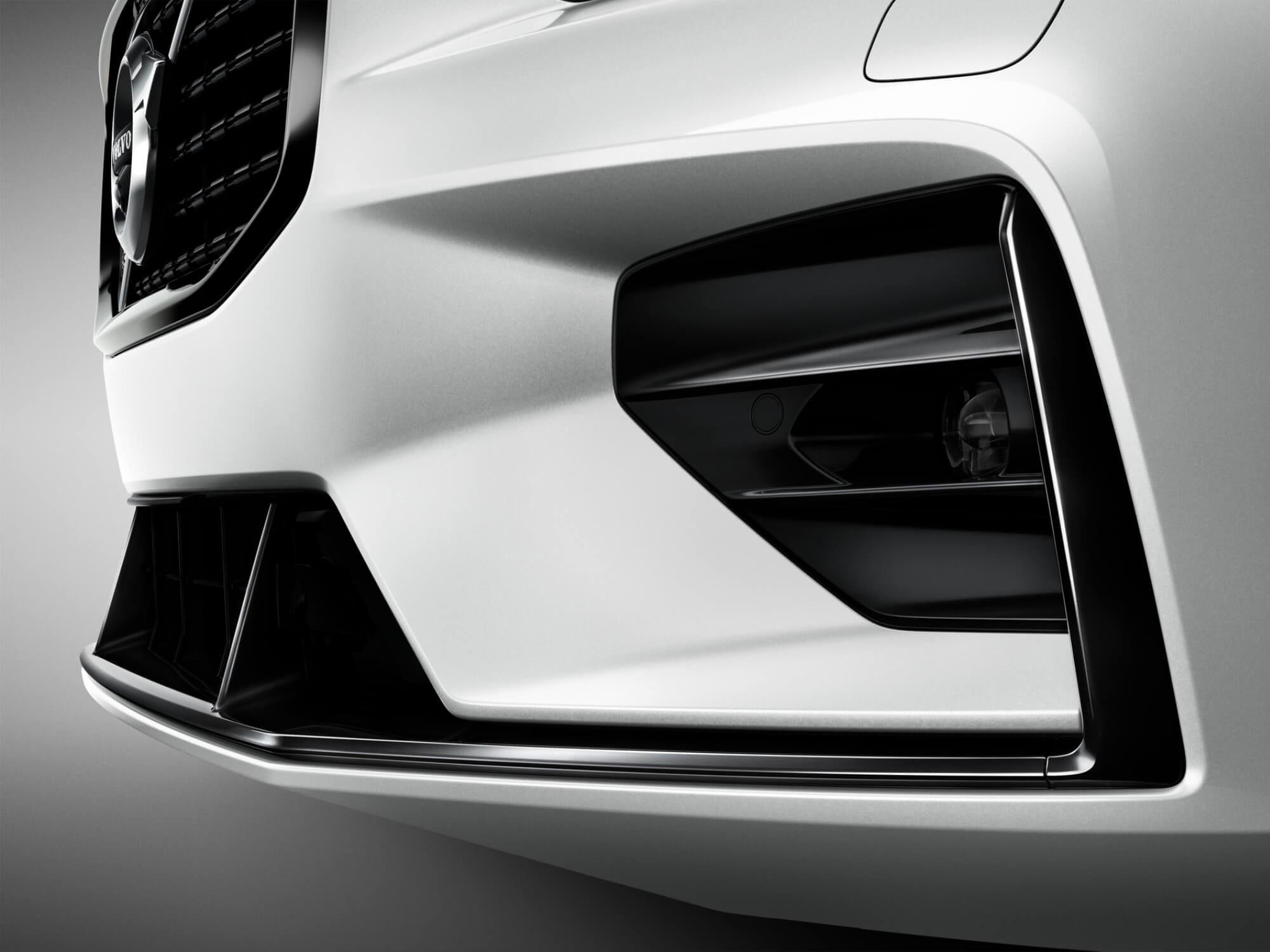 Volvo V60 Mild Hybrid voorbumper detail