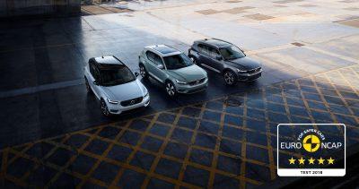 Volvo XC40 ontvangt vijf sterren in de Euro NCAP test